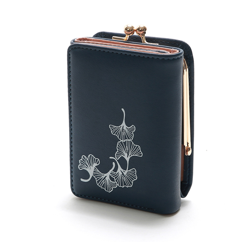 Wallet Women 2019 Lady Long Women Wallets Floral Print Money Purses Small Fold PU Leather Female Coin Purse Card Holder