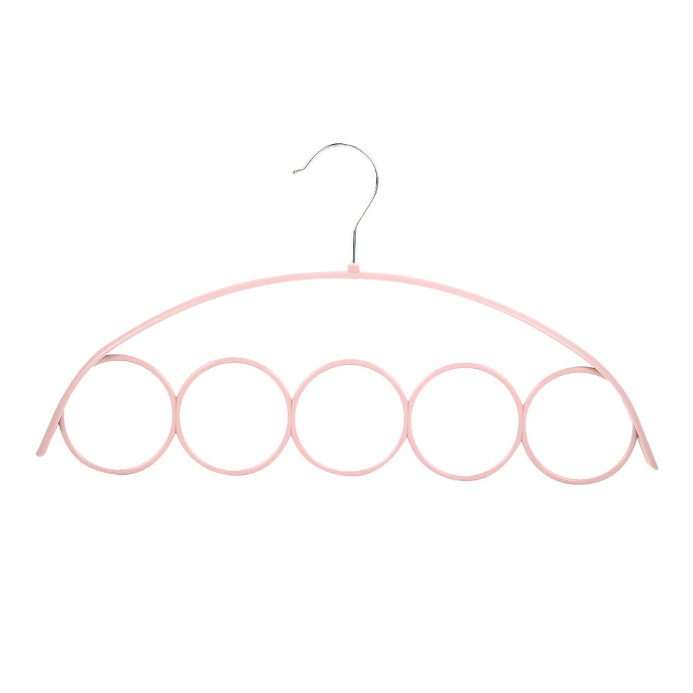 Пластик вешалки для ремней стойка для шарфов 5 отверстий органайзер для шарфов вешалка держатель для галстуков практичный 3 цвета Домашняя одежда брюки вешалка для хранения - Цвет: pink
