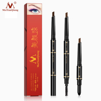 Air Cushion Triad Eyebrow Pencil Waterproof Longlasting Triangle Natural Make Up Eye Brow Liner With Brush Makeup Tools 3in1 Beauty Essentials