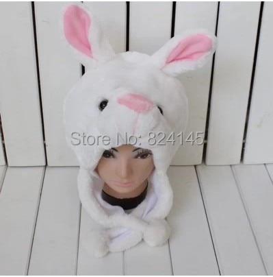 beanie White Rabbit - cartoon animal hat Props cap child hat Caps>>Skullies & Beanies блокнот printio white rabbit