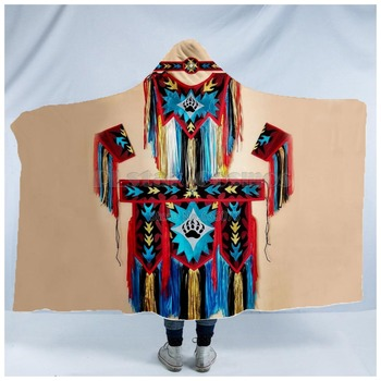 Totem/Native Indian Hooded Blanket 3