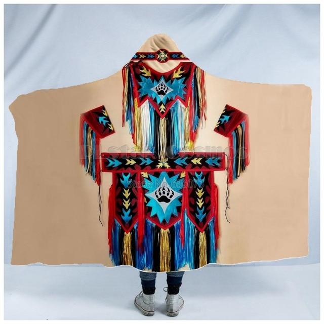 Totem/Native Indian Hooded Blanket 3