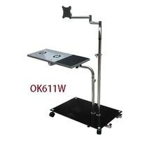 OK611 Bedside Moving Laptop Stand Adjustable Sofa Computer Monitor Holder Mount +Keyboard Rotating Table Lapdesks