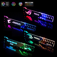Graphics Card Support GPU Holder Bracket VGA Frame Aluminum+Acrylic ROG 12V 4PIN RGB/5V 3PIN ARGB ASUS AURA SYNC Symphony