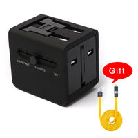 Abalon Travel Adapter Plug Universal Fireproof 240V Dual USB Outlets Integrated Converter Charge Adaptor With Uk