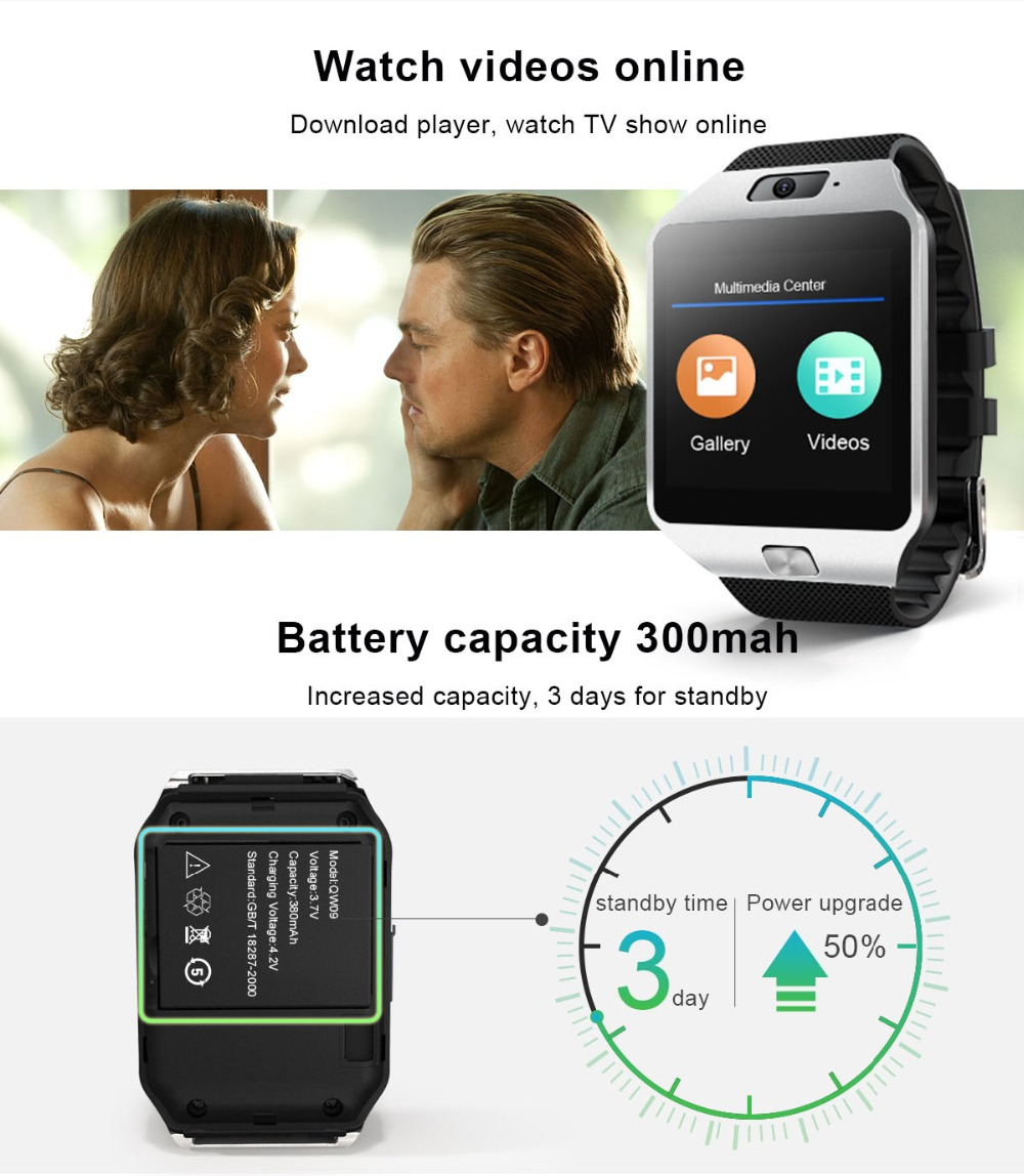 TORNTISC QW09 Unisex 3G Smart Watch For Android Phone With WIFI Real-Pedometer And Calling Benefit 7