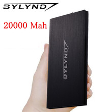Original BYLYND Portable Ultra Thin Polymer Power Bank 20000mAh Portable External Battery Pack pover bank For Mobile Phone