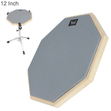 12 Inch Lightweight Portable High Density Elastic Strong Rubber Wooden Dumb Drum Practice Training Drum Pad for Jazz Drums 10 inch dumb drum practice jazz drums exercise training abs drum pad with drum sticks and
