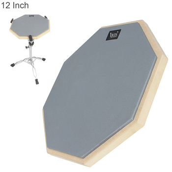 12 Inch Lightweight Portable High Density Elastic Strong Rubber Wooden Dumb Drum Practice Training Drum Pad for Jazz Drums dp 850 practice drum pad lightweight and portable design cherub