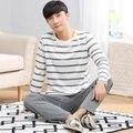 Pijamas de los hombres Otoño Invierno Homewear Manga Larga 100% Algodón A Cuadros Pijamas Hombres Salón Conjuntos de Pijamas Más tamaño 3XL ropa de dormir
