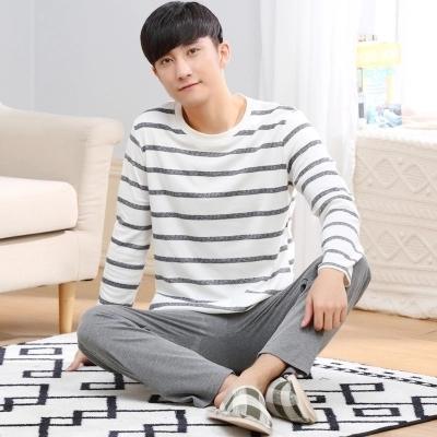 Pijamas dos homens do Outono Inverno de Manga Comprida Desgaste Casa 100% Algodão Xadrez Homens Salão de Pijama Conjuntos de Pijama Plus Size 3XL Sleepwear