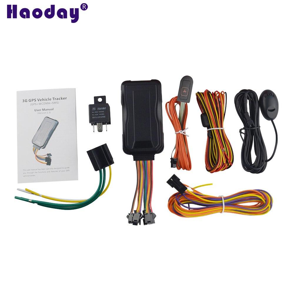 Traqueur GPS 3G GT06E GPS LBS localisateur SOS alarme de voiture coupé huile surveillance vocale à distance détection ACC dispositif de suivi en temps réel
