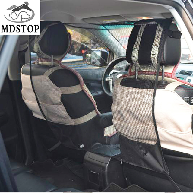 MDSTOP Cheap Black Trucks SUV Pet Barrier Mesh Vehicle Pet Safety Carrier Cover Restraint Car Backseat Divider Vehicle Gate