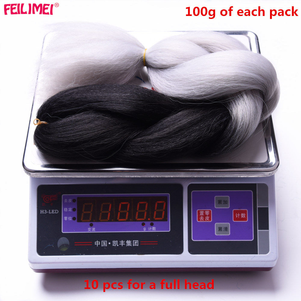Bundles 100g/pc Braids Gray