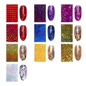 Image 2 - 7 Colors  Nail Foils Nail Transfer Sticker Rose Gold Champagne Nail Stickers 4*20cm Nail Art Design