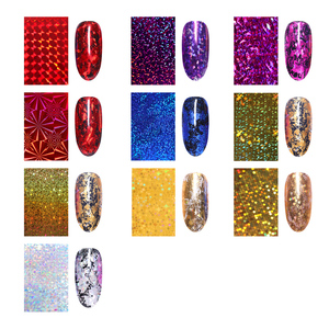 Image 2 - 7 couleurs ongles feuilles ongles transfert autocollant or Rose Champagne ongles autocollants 4*20cm ongles Art Design