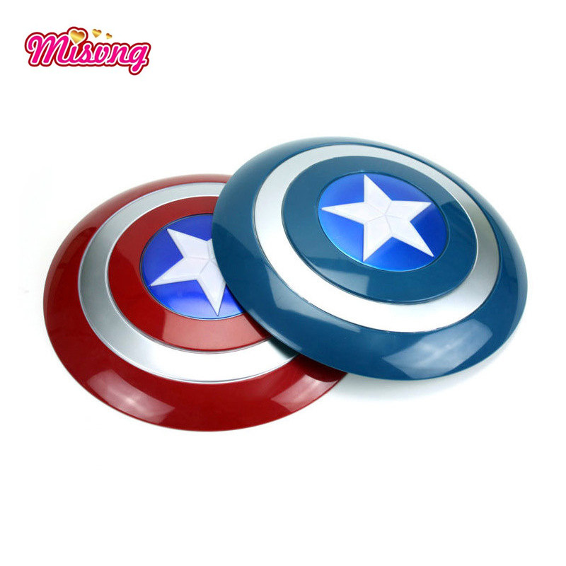 Captain America Voice Flash Shield For Captain America Costume Keep A Hero Safe As Kids Toys Gift with LED Light(China)