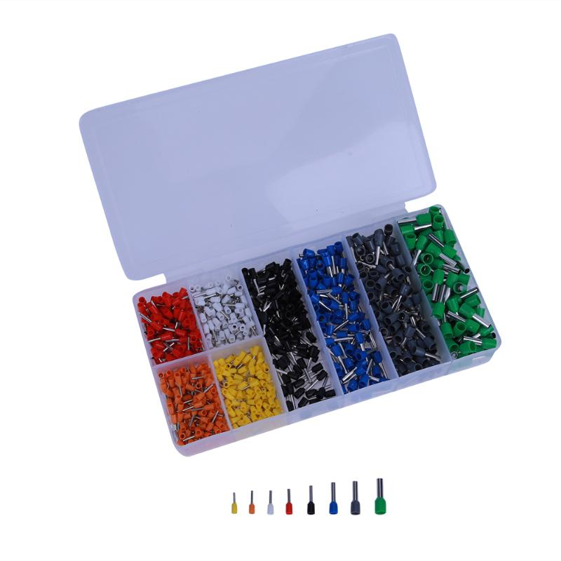 880pcs 22-8AWG Electric Cable Connector Splice Insulated Terminal Block Kit Wire Ferrules Crimp Pin End Terminals Tools 100pcs lot 4 8 male and female insulated terminal insert the plug sheathed wire terminal connector 0 2 1mm2