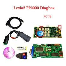 2016 Más Reciente V7.82 Car Auto herramienta de diagnóstico PP2000 Lexia3 V48/V25 3 Diagbox Lexia 7.82 para Citroen Peugeot