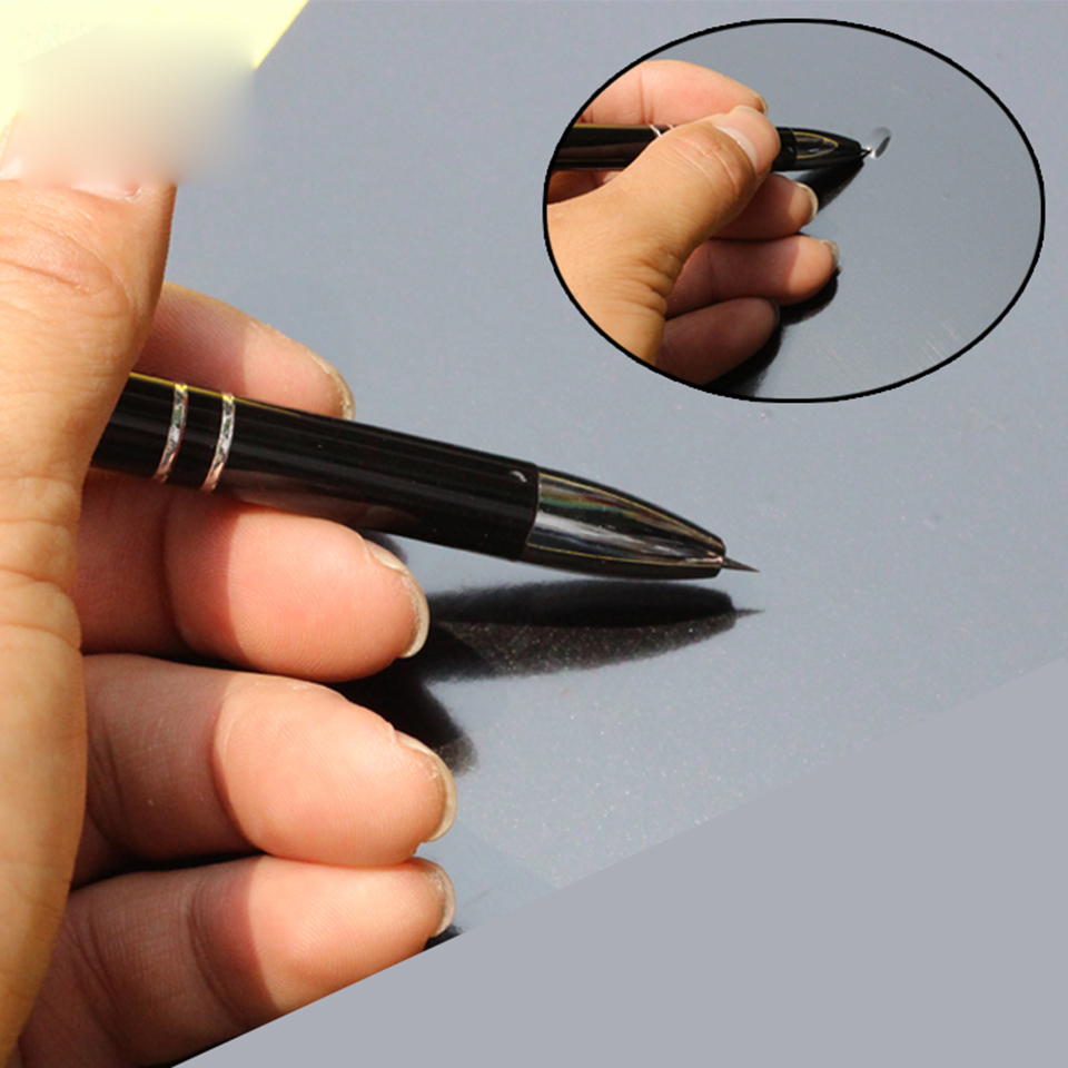 Image 3 - Black Bubble Popping Pen Thin Point Vinyl Popping Bubble Pen for signmaking / vehicle wrapping air release MO 911-in Car Stickers from Automobiles & Motorcycles