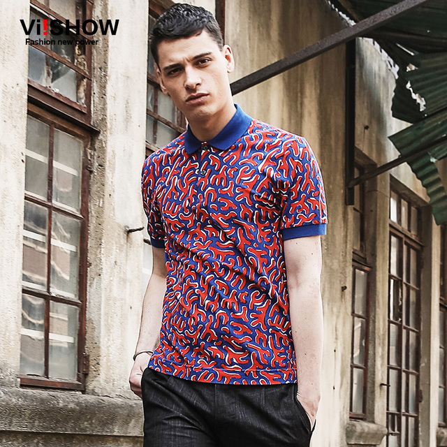 VIISHOW Men Polo Shirt Homme Brand Clothing Polo Shirt Casual Polo Men Short Sleeve Print Dress Top Tee Shirt   PD65162