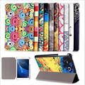 Painted patterns Folding Flip PU Stand Leather Case For Samsung Galaxy Tab A 7.0 T280 T285 Case Cover