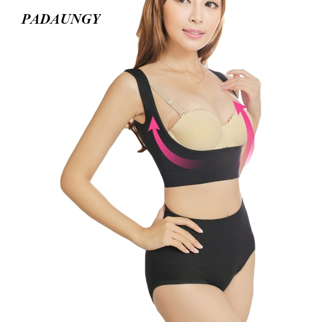 4ab1fbee4aec1 PADAUNGY Breast Orchose Shoulder Massager Posture Humpback Slimming  Bodyshapers Underwear Push Up Back Corrector Support Brace