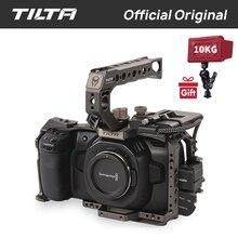 Tilta BMPCC 4 K клетка TA-T01-B-G полный Камера клетка SSD диск держатель с ручкой сверху для BMPCC 4 K Камера Базовый комплект (Цвет Tilta серый)