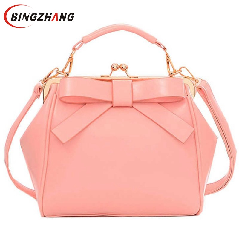 Hot New Fashion Women Handbag Fashion Brand Bag Bow Shoulder Bag Vintage Messenger Bags Women L4-34