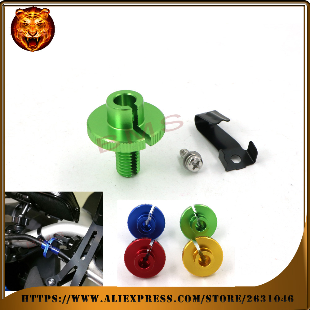 Motorcycle CNC Billet Clutch Cable Adjuster Wire  M10x1.5 For Triumph Daytona 675/R / Speed Triple1050/675 07-2015 free shipping adjustable cnc billet short folding brake clutch levers for triumph daytona 675 r speed triple 1050 r 2011 2015 2012 2013 2014