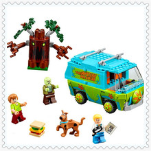 305Pcs Scooby Doo Mystery Machine Bus Model Building Block Toys LEPIN 75902 DIY Figure Gift For Children Compatible Legoe(China)