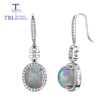 цены TBJ,opal Earrings natural Ethiopia gemstone whith 925 sterling silver long style design earrings fine jewelry for women Wedding