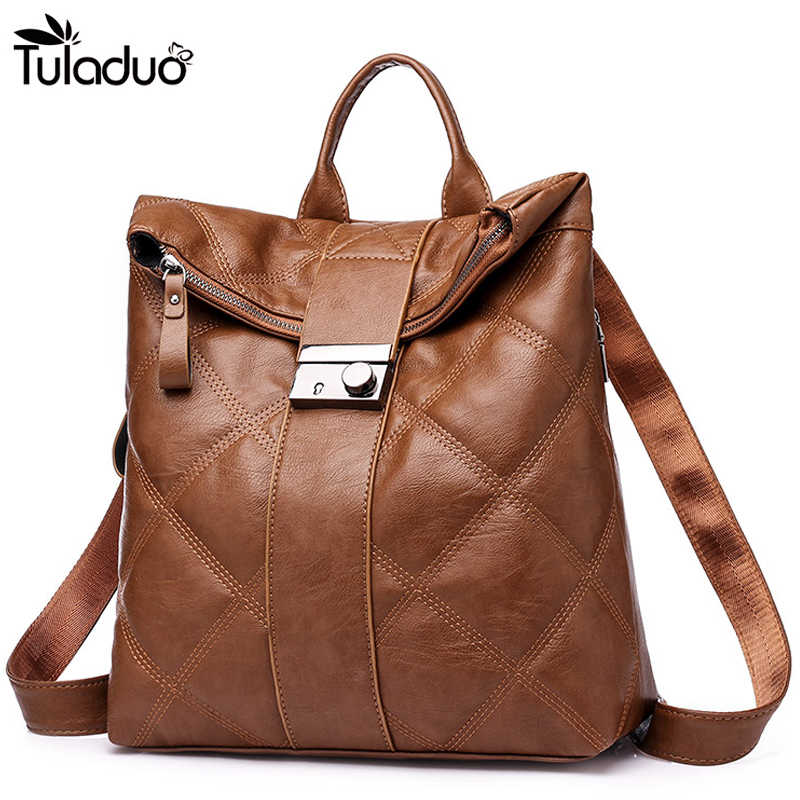 9d67a61dcd 2019 New Hot Sale Women PU Backpacks For Women Vintage School For College  Girl Travel Bag