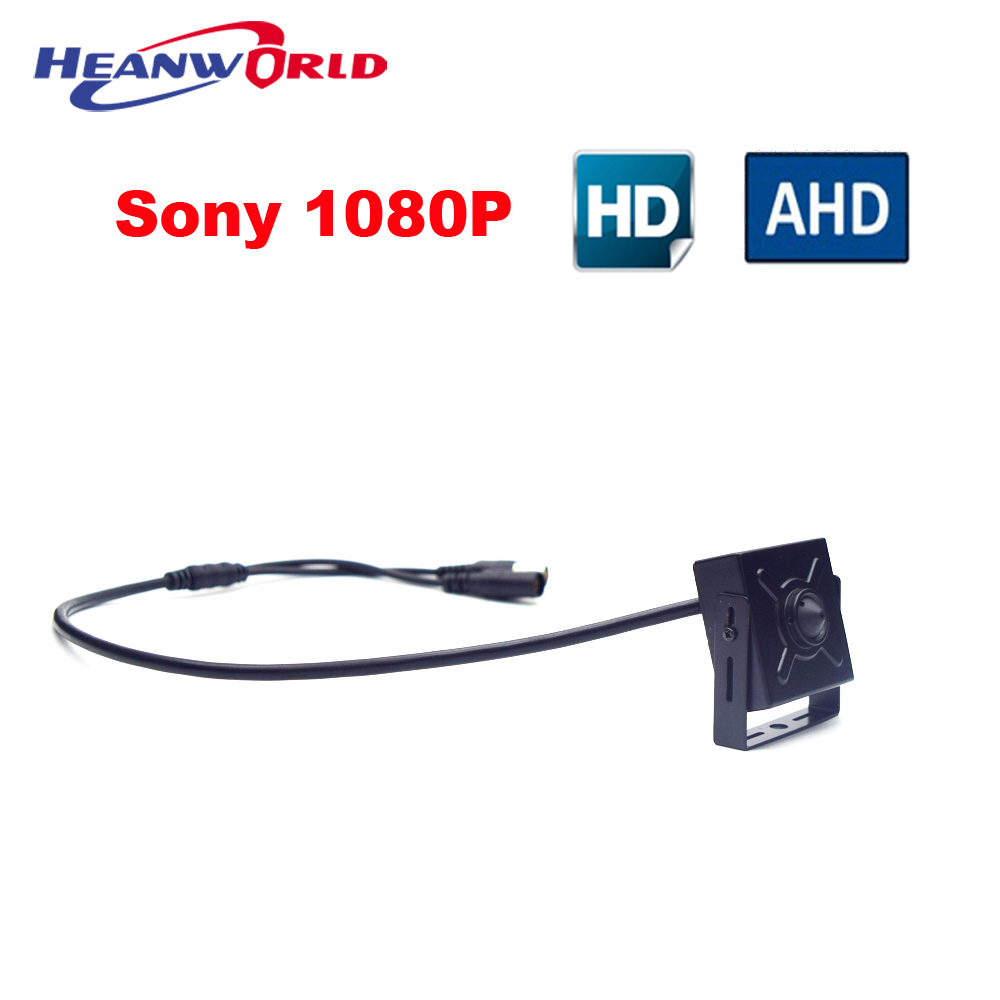 Full HD Sony 2MP AHD Camera 1080P CCTV System Surveillance Cameras Indoor Security Camera Pinhole Lens Super mini Smallest Cam sunchan hd 2mp video surveillance cctv system 8ch full hd 1080p hd ahd dvr kit 8 1080p sony outdoor security camera system w hdd