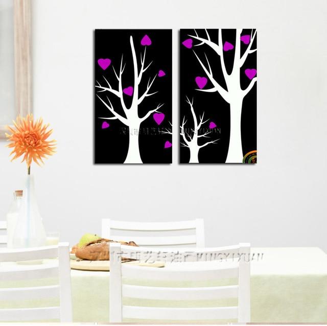 2 Piece Canvas Wall Art love tree 2 piece canvas wall art abstract canvas art oil