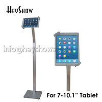 Flexible tablet seurity floor stand Ipad display bracket Samsung tablet lock case holder anti theft for 7 10.1 tablet