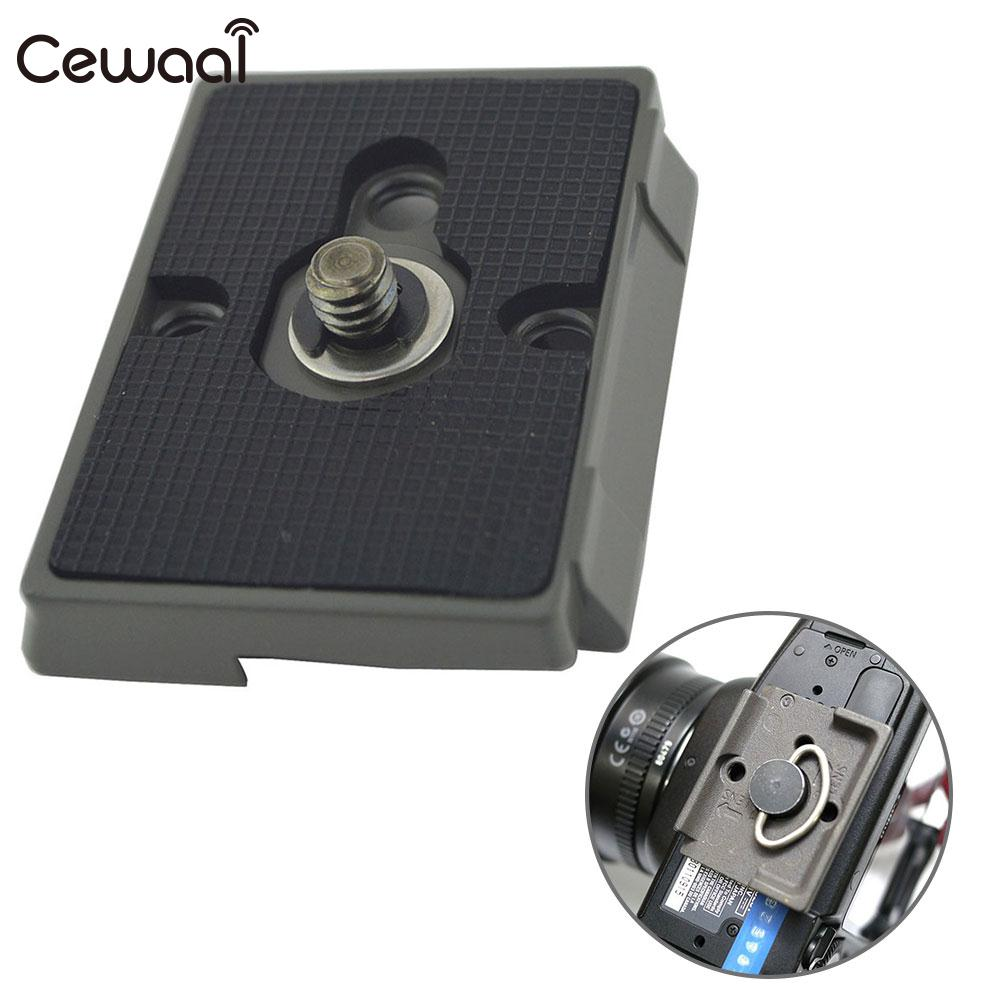 Photo Quick Release Plate Durable Aluminum QR Plate Monopod Black for Manfrotto 200PL-14