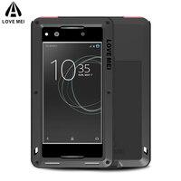 LOVE MEI Aluminum Metal Case For Sony Xperia XA1 5 Inch G3112 G3116 G3121 G3123 Powerful