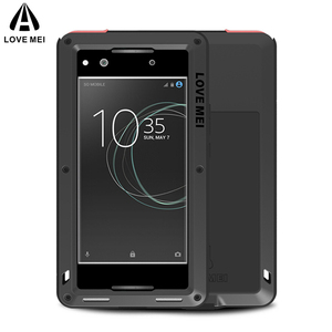 LOVE MEI Aluminum Metal Case For Sony Xperia XA1 Cover Powerful Armor Shockproof Life Waterproof Case For Sony Xperia XA1 Fundas
