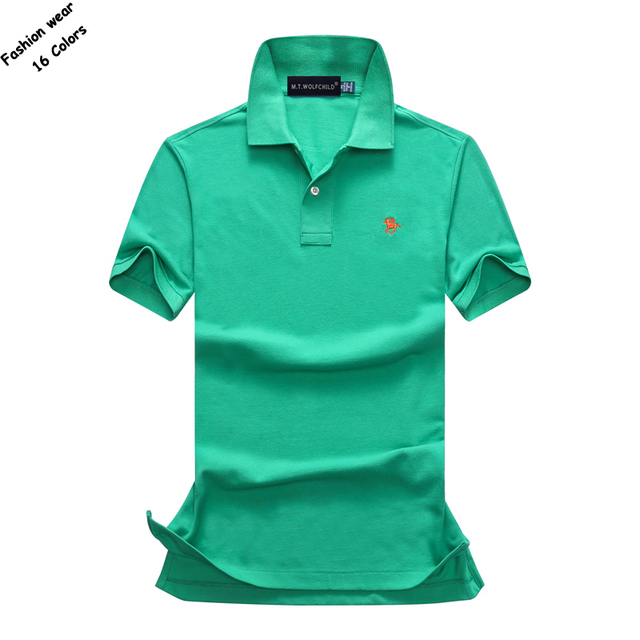 c9f3186b2a0d Fashion Summer mens short sleeve brand polos shirts casual cotton solid  color small horse lapel polos shirts mens slim tops