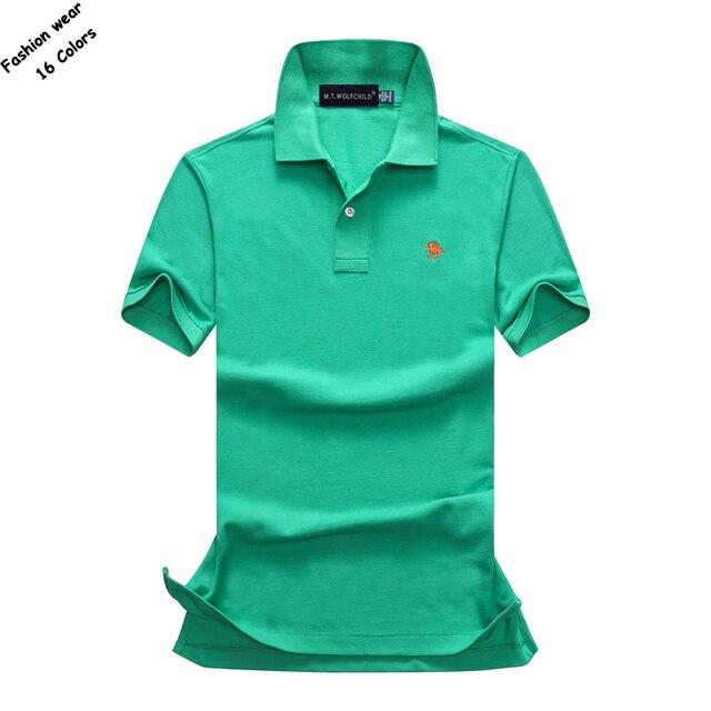 7ea96b43e3c Fashion Summer mens short sleeve brand polos shirts casual cotton solid  color small horse lapel polos shirts mens slim tops