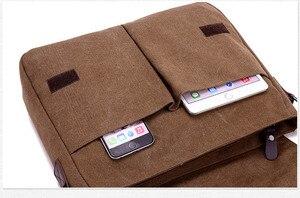 Image 3 - New Arrival Men Laptop Shoulder Bag Mens  Canvas Business Computer Bag luxury Designer Briefcase File package Travel Leisure
