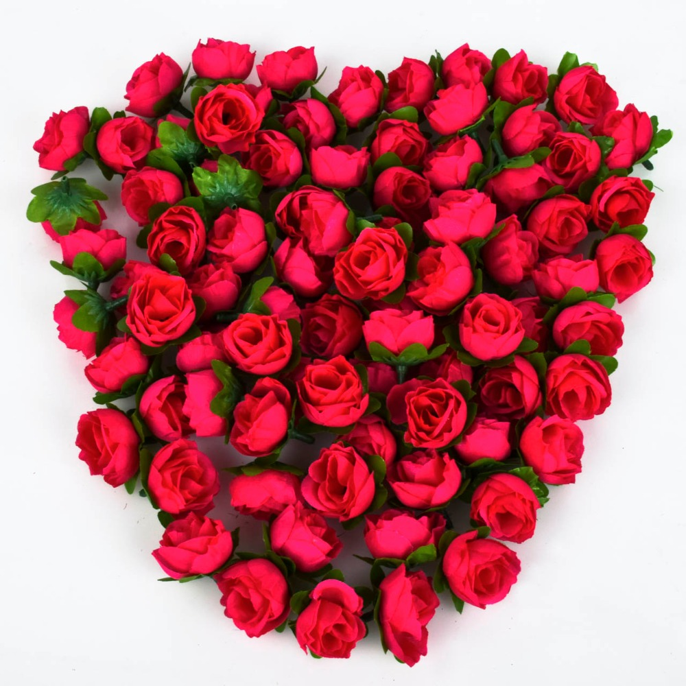 100pcs rose artificial silk flower heads wedding for Artificial flower for wedding decoration