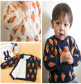 Bebé ropa de niño, además de terciopelo engrosamiento chaqueta de punto suéteres de vestir exteriores niño niños suéter de invierno otoño ropa de bebé niña