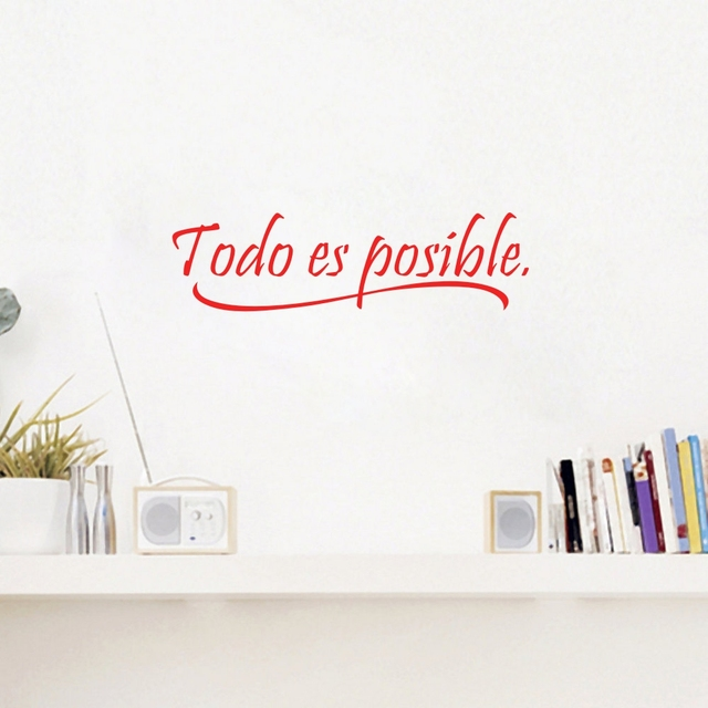 vinyl wall stickers home decor todo es posible spanish quotes wall