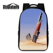 Dispalang ноутбук рюкзак для мужчин и женщин пистолет печати ноутбук рюкзак военный большой мешок школы для подростков Bolsa Mochila