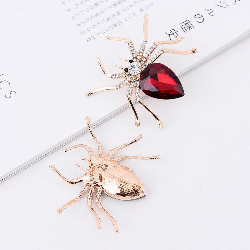 Rouge Femmes strass araignée Broche Bijoux Fantaisie Broche Cadeau