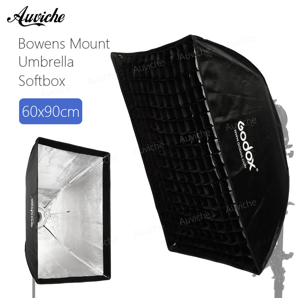 Godox 24x 35 60x90cm Bowens Mount Honeycomb Grid Umbrella Softbox soft box with Bowens Mount for Bowens Mount Studio Flash godox 120cm octagon flash speedlite studio photo light soft box w grid honeycomb umbrella softbox bowens mount
