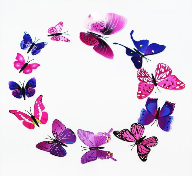 Lobby Accent Wall Corporate Messaging: 48PCS 3D Butterfly Stickers Decorative Wall Stickers