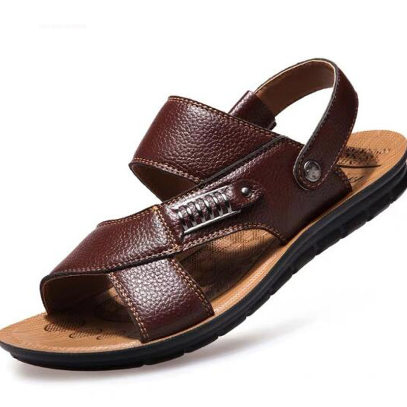 Men Sandals New Summer Beach Sandals Slip On Outdoor Men Shoes Genuine Leather Sandals Men Casual Shoes Plus Size 48 Male ShoesMen Sandals New Summer Beach Sandals Slip On Outdoor Men Shoes Genuine Leather Sandals Men Casual Shoes Plus Size 48 Male Shoes